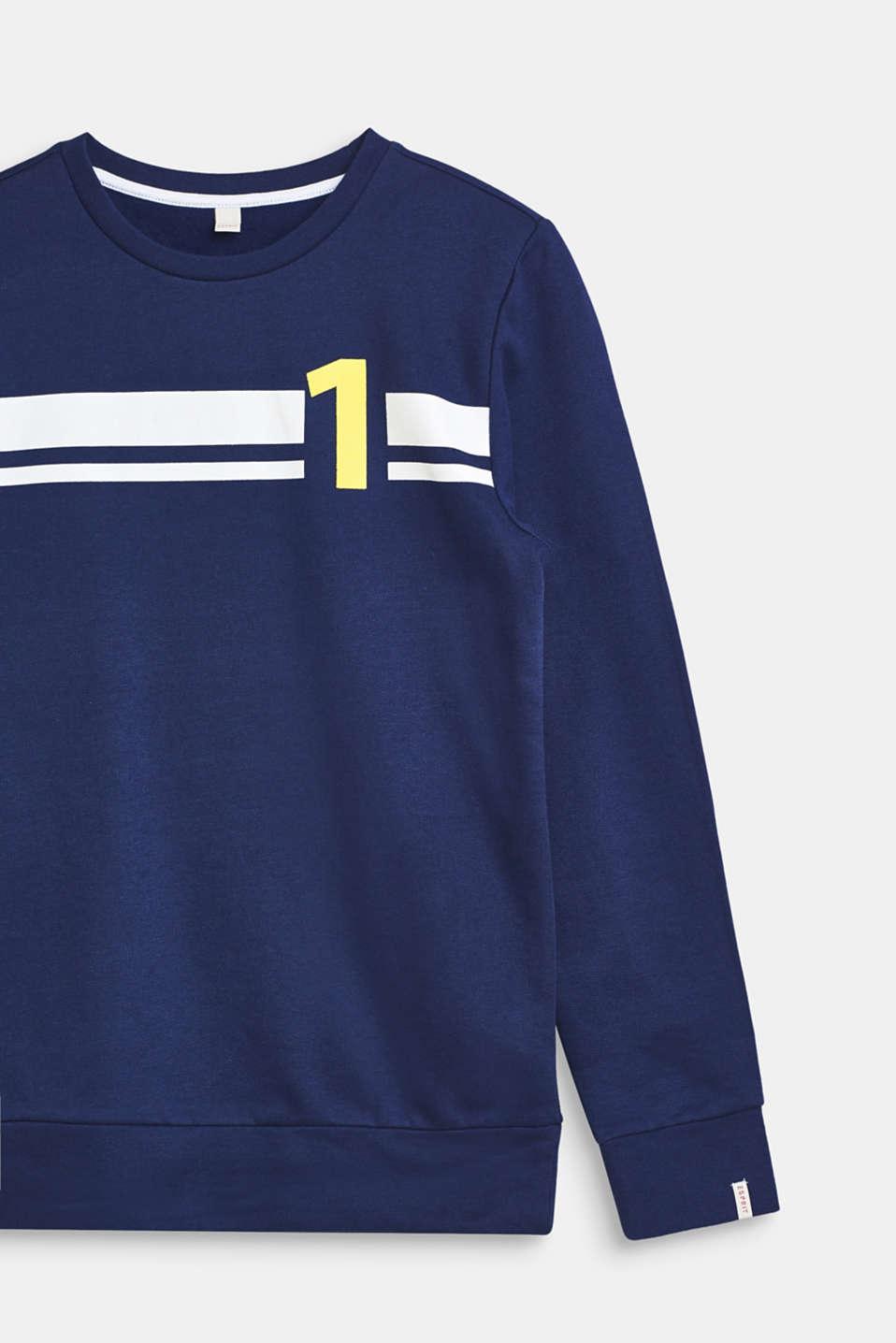 Sweatshirt in 100% cotton, LCMARINE BLUE, detail image number 2