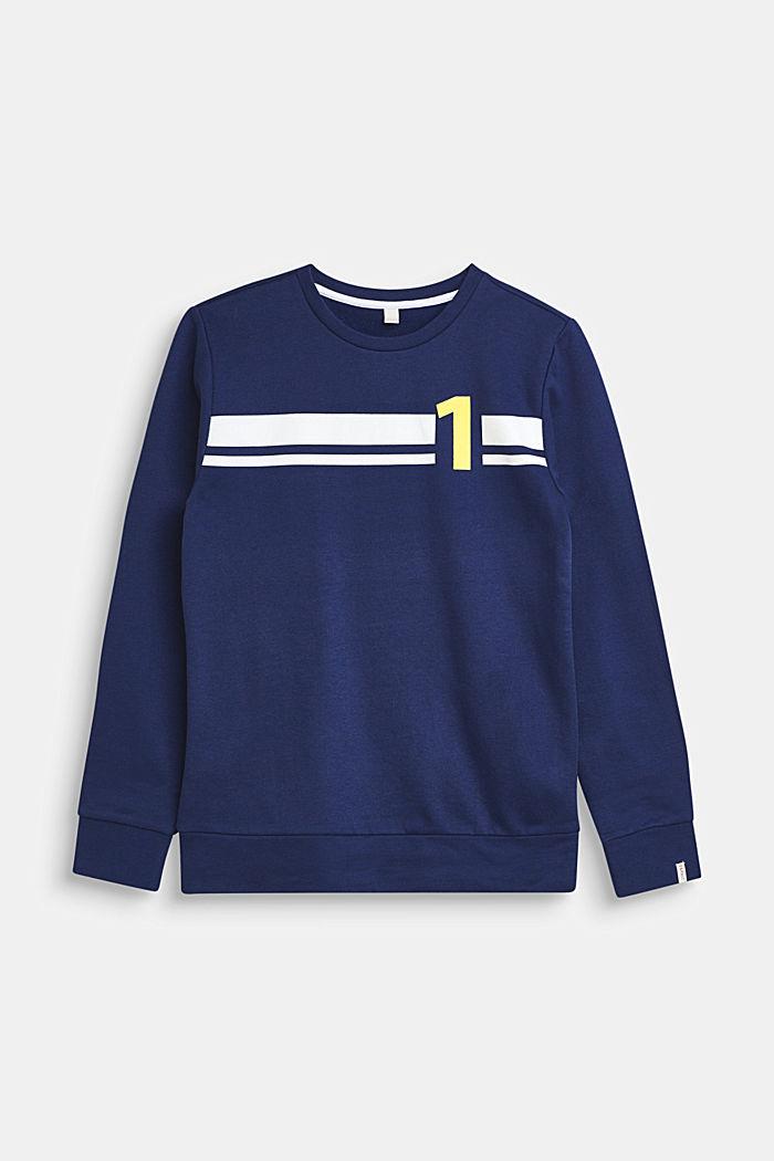 Sweatshirt van 100% katoen, LCMARINE BLUE, detail image number 0