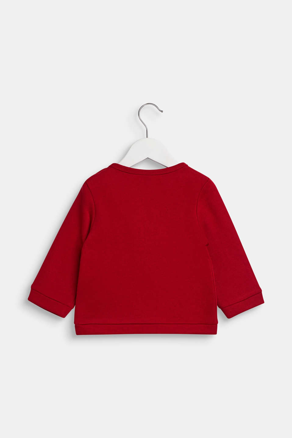 Long sleeve top with a glitter print, LCTIBETAN RED, detail image number 1