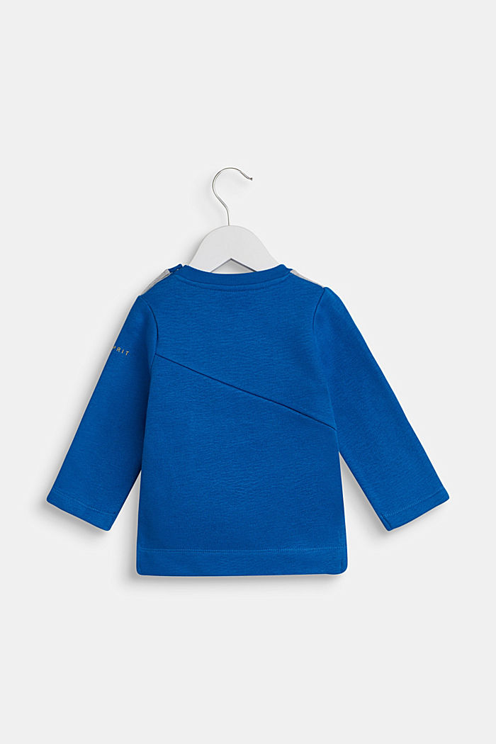 Sweatshirt with an eye print, BRIGHT BLUE, detail image number 1