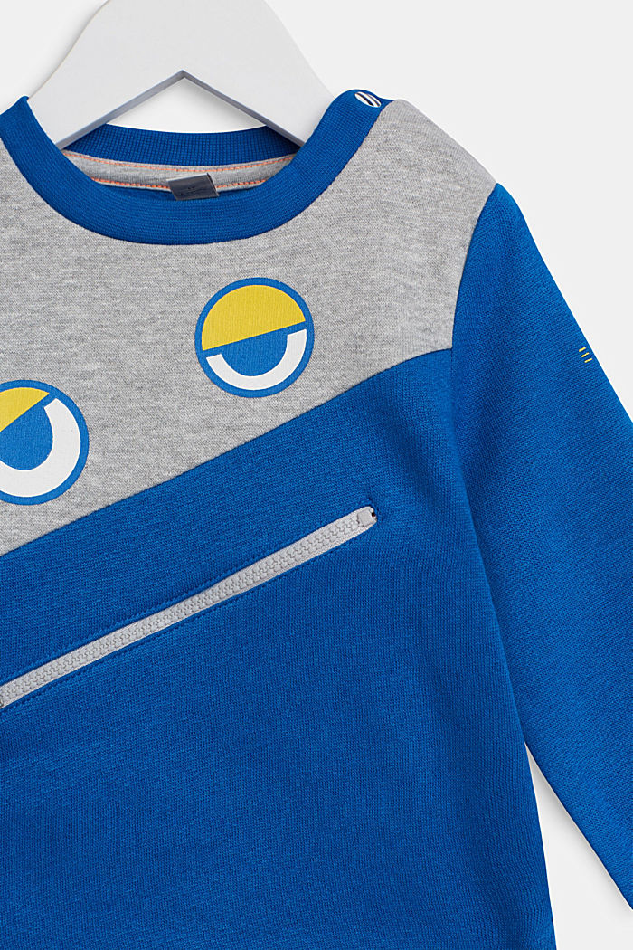 Sweatshirt with an eye print, BRIGHT BLUE, detail image number 2