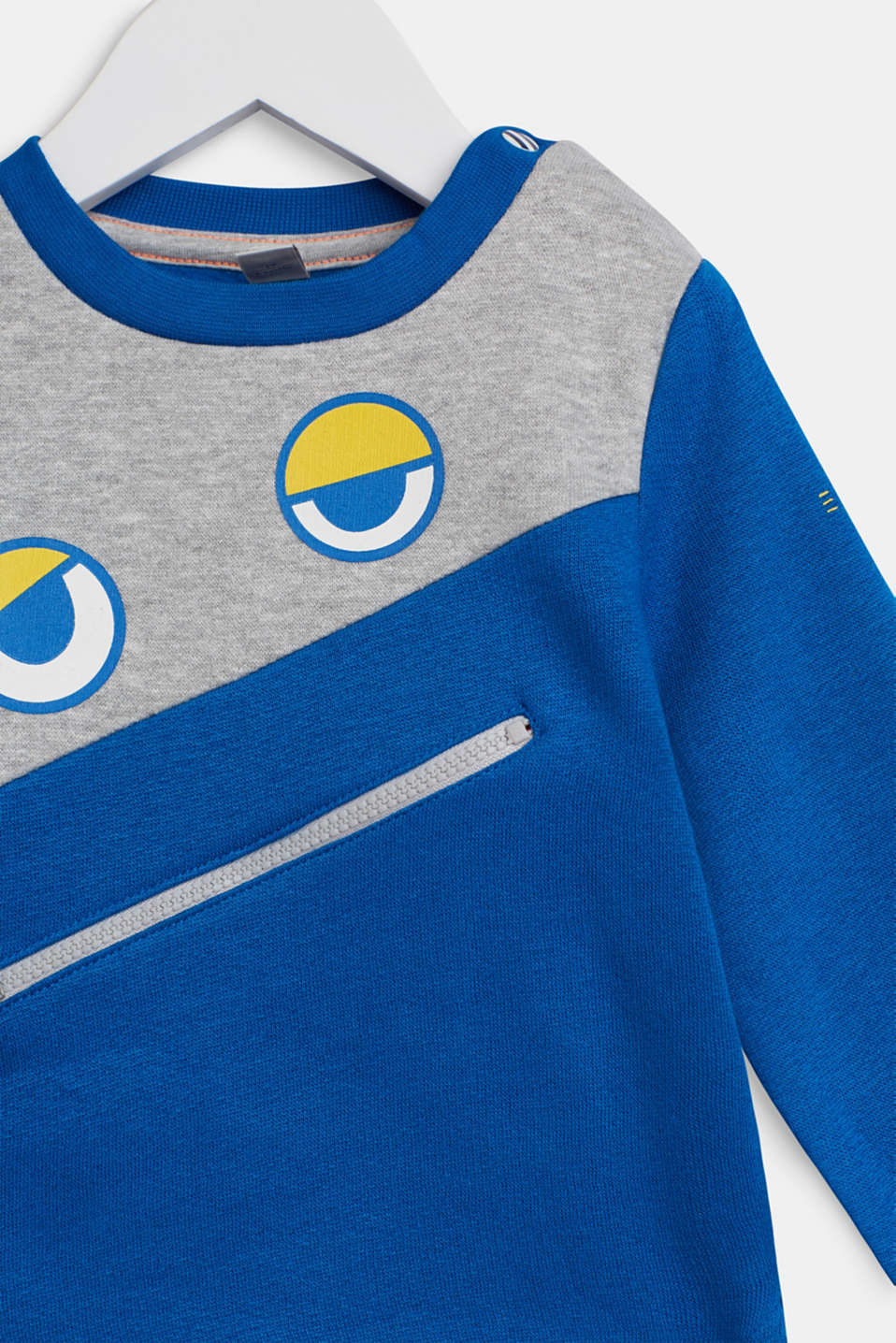 Sweatshirt with an eye print, LCBRIGHT BLUE, detail image number 2