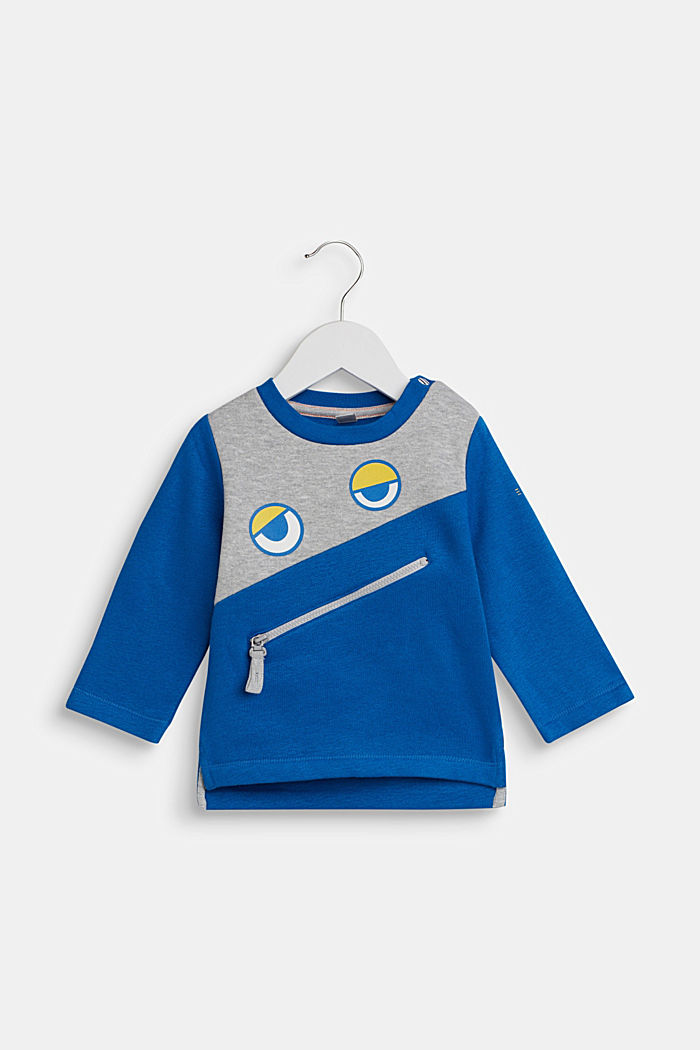 Sweatshirt with an eye print, BRIGHT BLUE, detail image number 0
