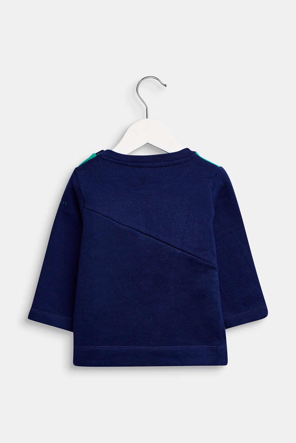 Sweatshirt with an eye print, LCMARINE BLUE, detail image number 1