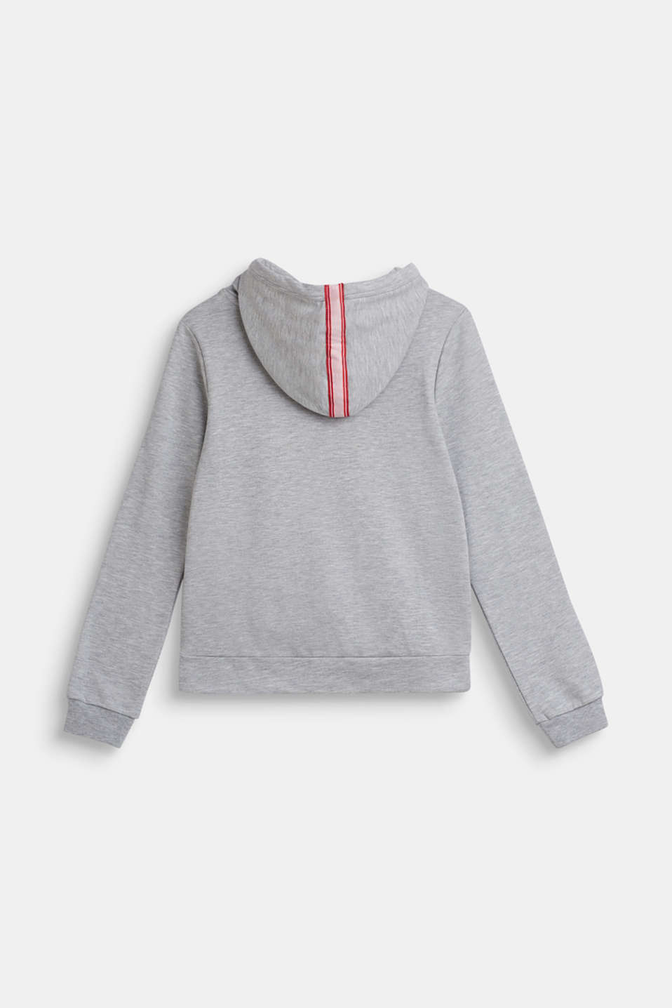 Hoodie with glitter logo, LCHEATHER SILVER, detail image number 1