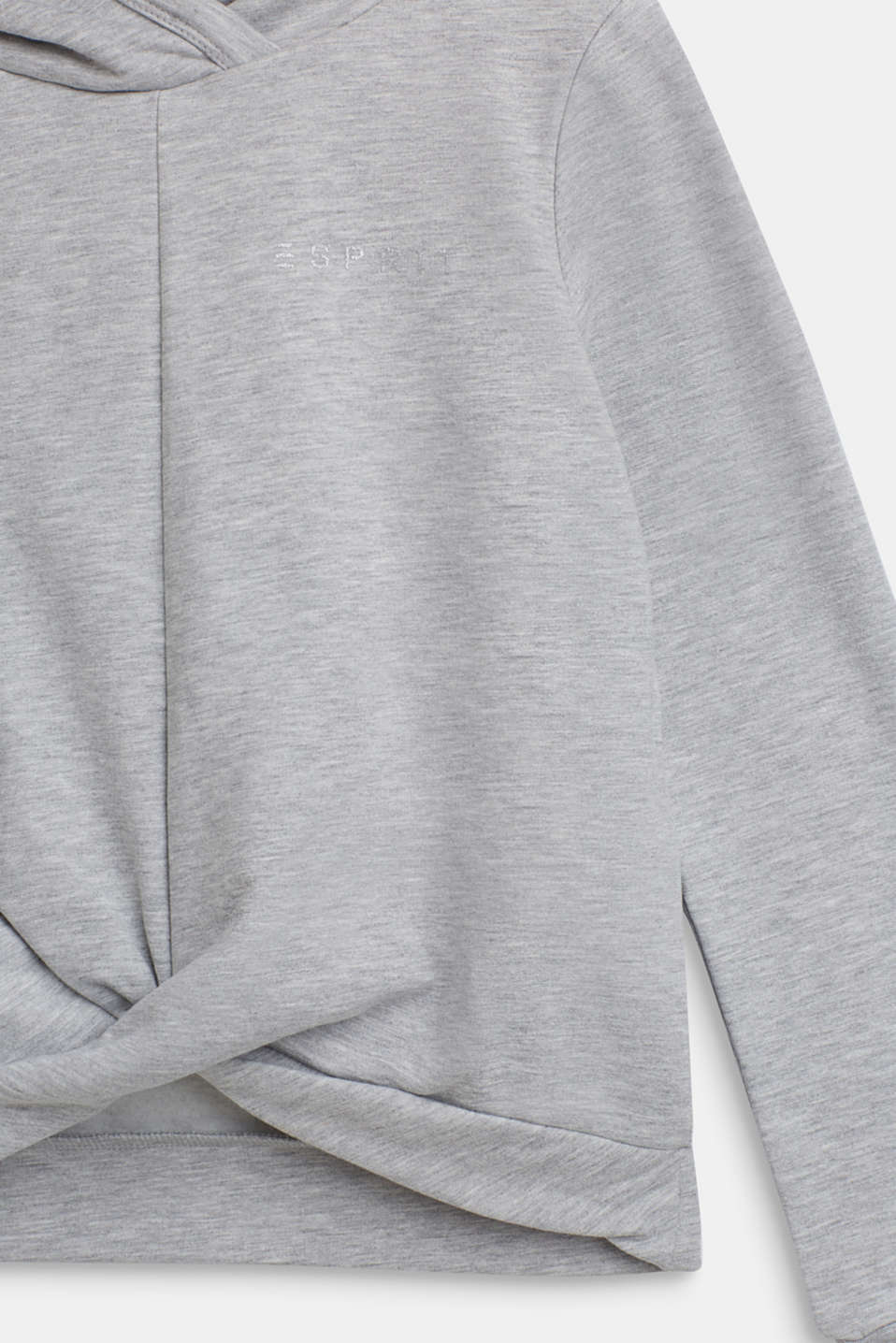 Sweatshirts, LCHEATHER SILVER, detail image number 2