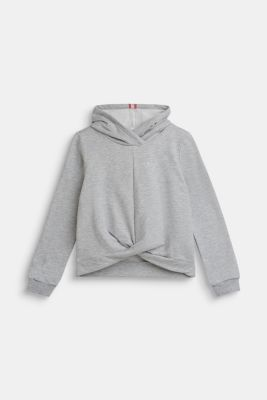 Hoodie with glitter logo, LCHEATHER SILVER, detail