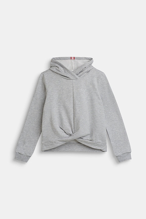 Hoodie with glitter logo