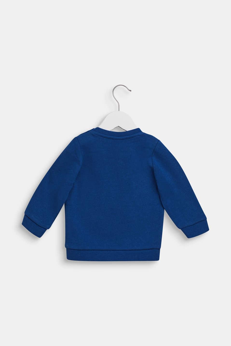 Sweatshirt with llama print, 100% cotton, LCINDIGO, detail image number 1
