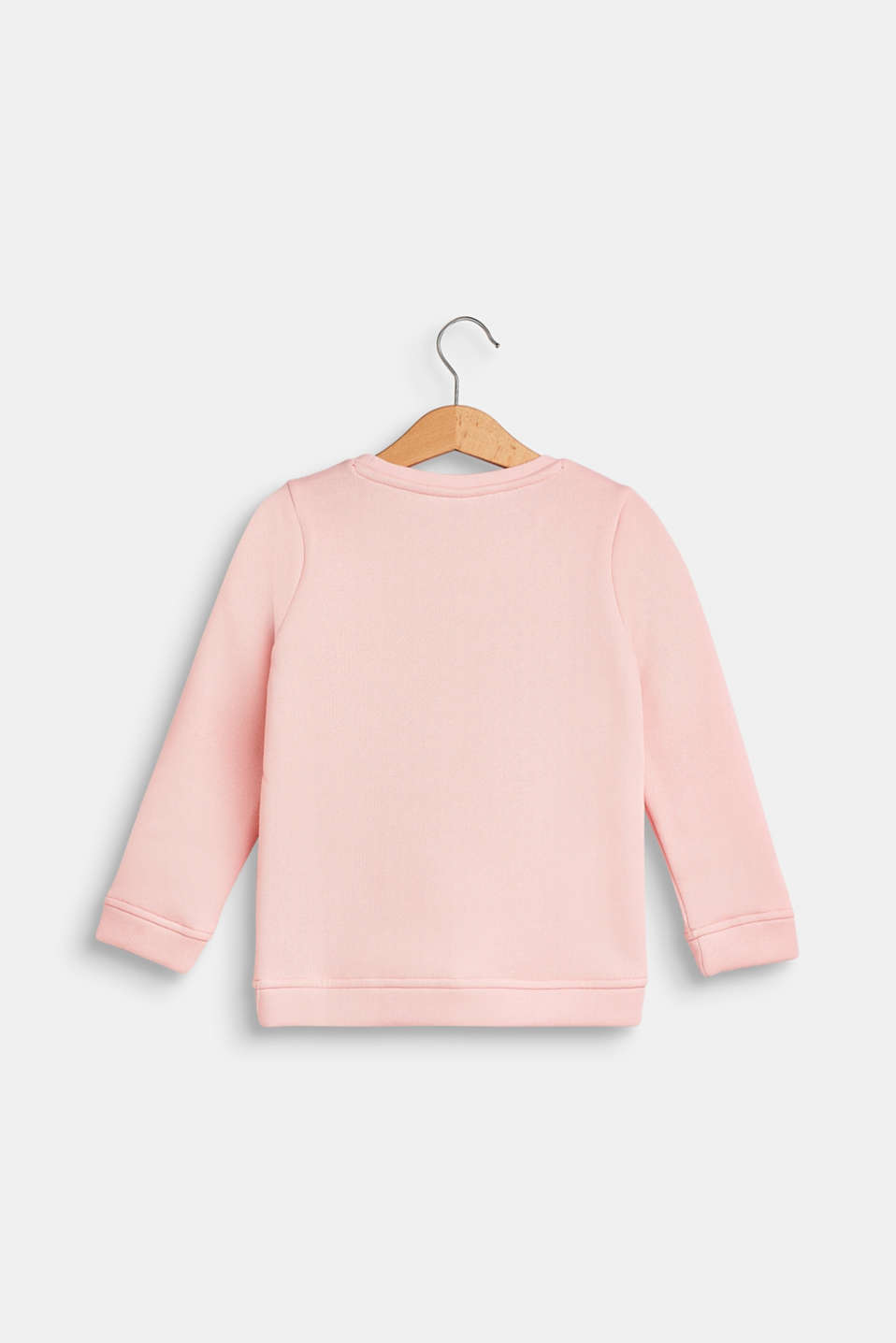 Statement sweatshirt with sequins, TINTED ROSE, detail image number 1