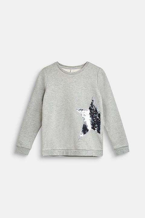 Melange sweatshirt with reversible sequins