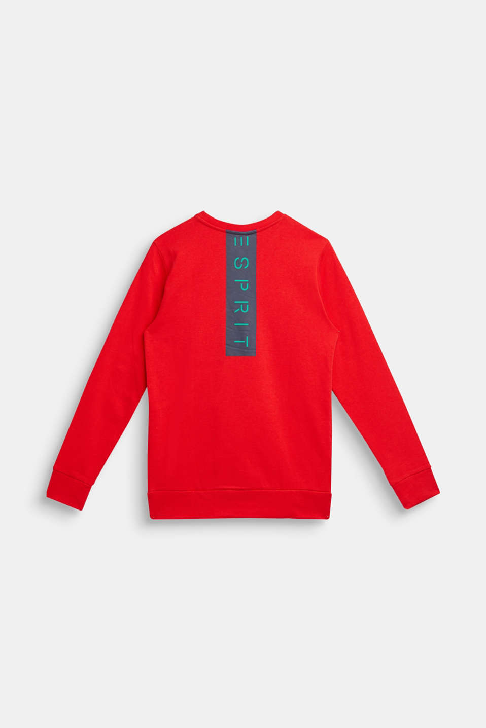 Logo print sweatshirt, 100% cotton, LCRED, detail image number 0