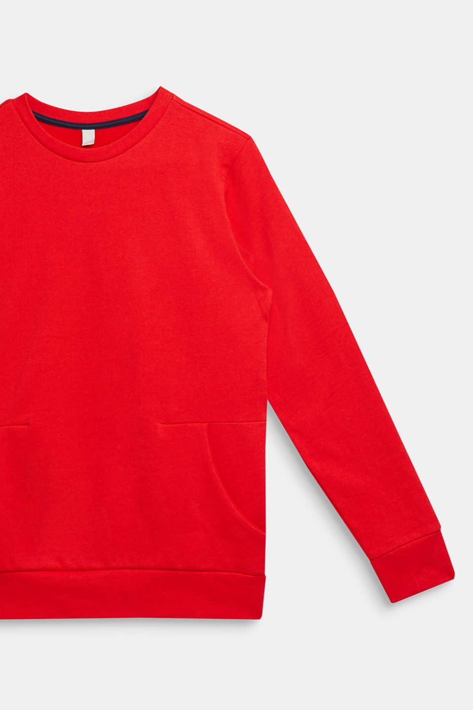 Logo print sweatshirt, 100% cotton, LCRED, detail image number 2