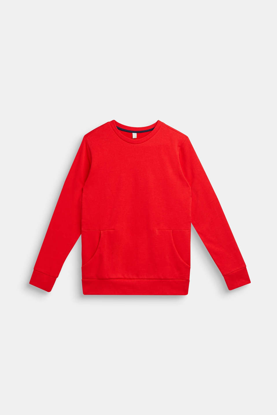 Logo print sweatshirt, 100% cotton, LCRED, detail image number 1
