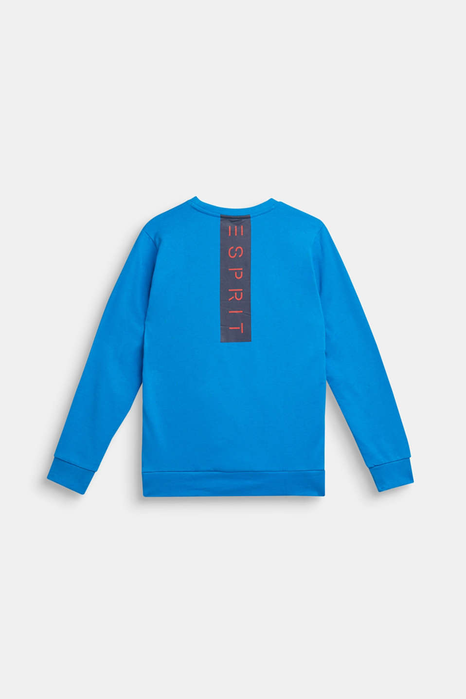 Logo print sweatshirt, 100% cotton, LCSPARROW BLUE, detail image number 0