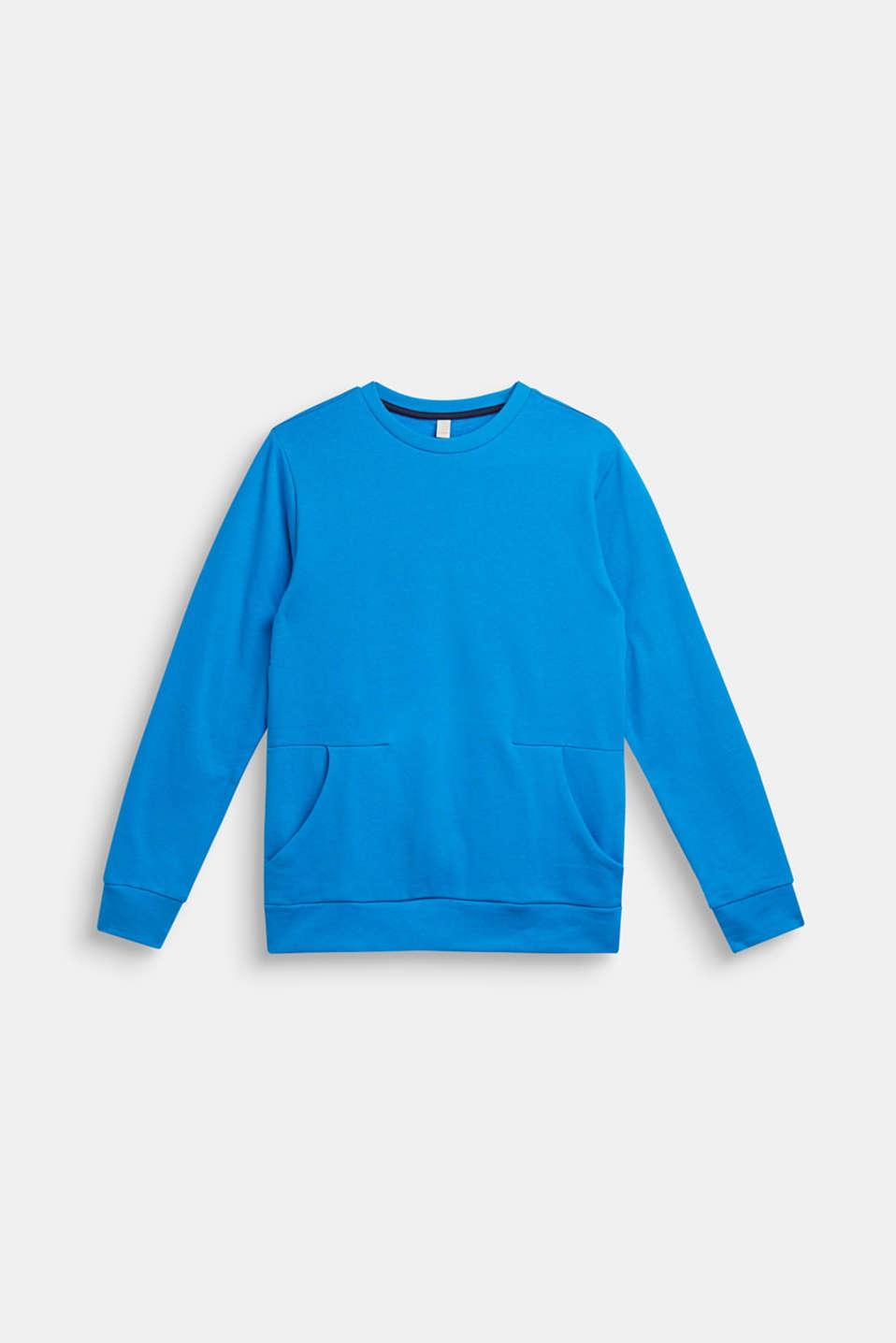 Logo print sweatshirt, 100% cotton, LCSPARROW BLUE, detail image number 1