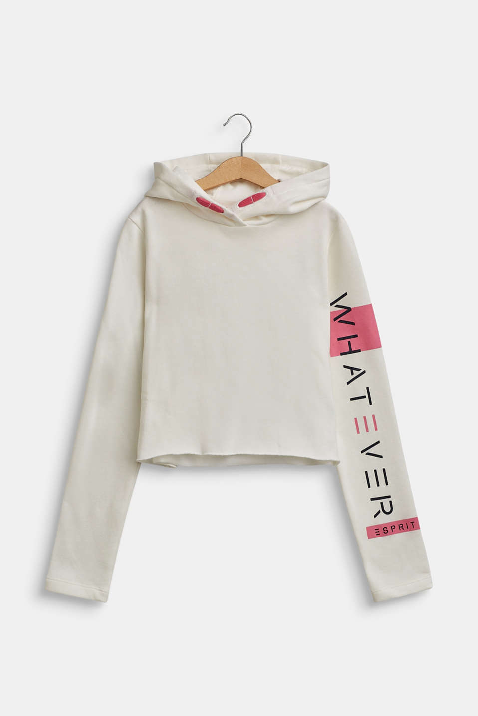 Hoodie with a statement print, LCOFF WHITE, detail image number 0