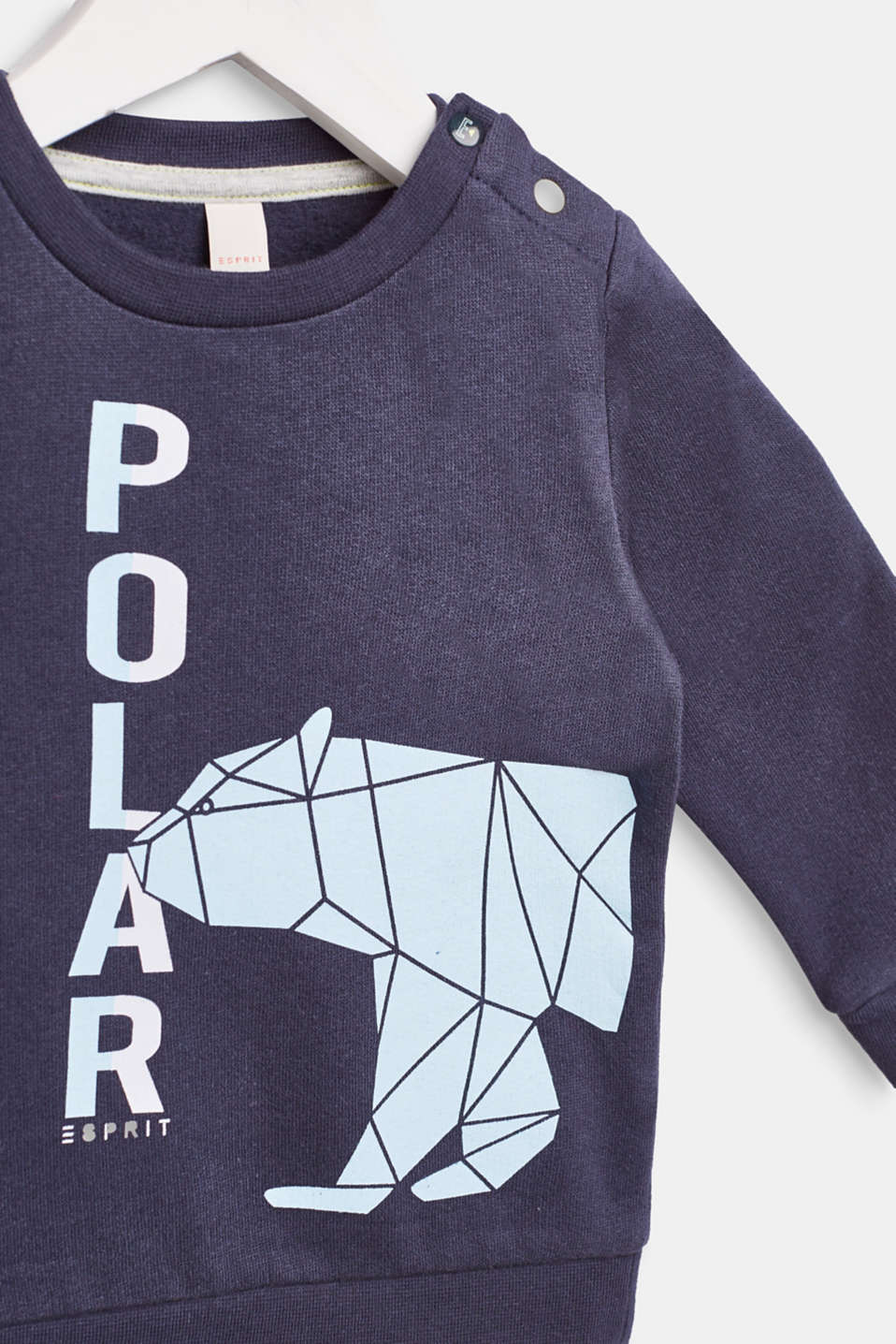 Sweatshirt with a print, 100% cotton, LCMIDNIGHT BLUE, detail image number 2