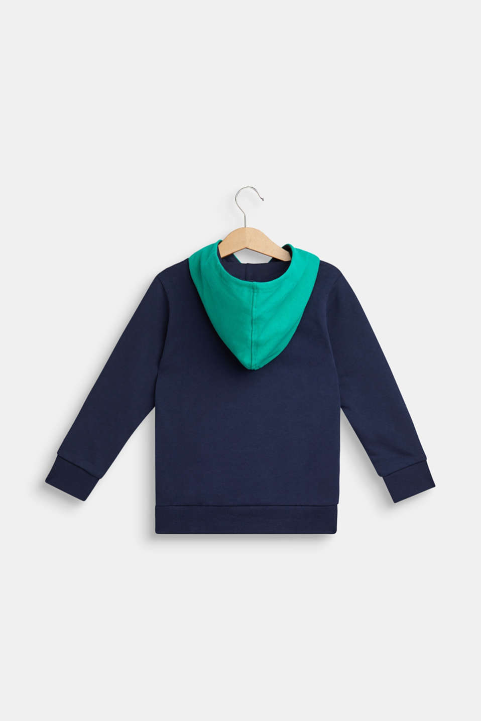 Hoodie sweatshirt with dinosaur appliqué, NAVY, detail image number 1