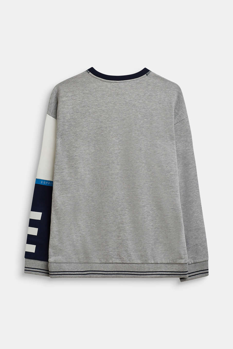 Sweatshirt with contrast sleeves, LCHEATHER SILVER, detail image number 1