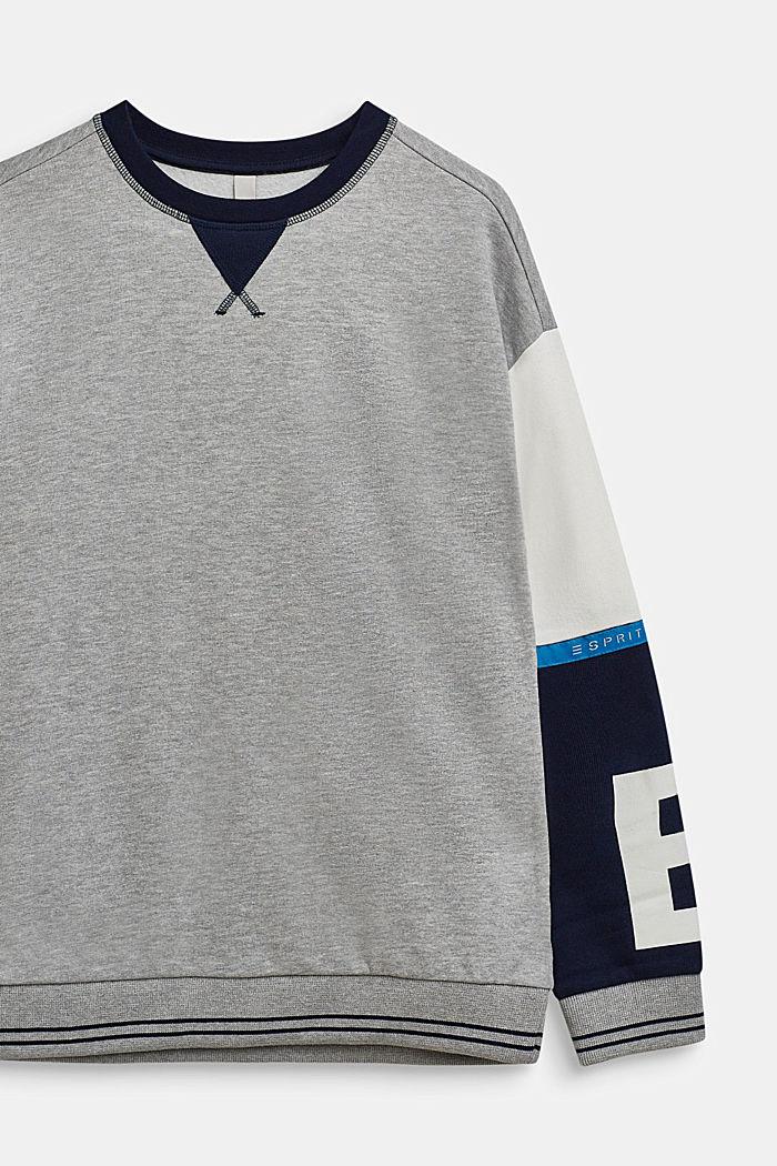 Sweatshirt mit Kontrast-Ärmel, LCHEATHER SILVER, detail image number 2