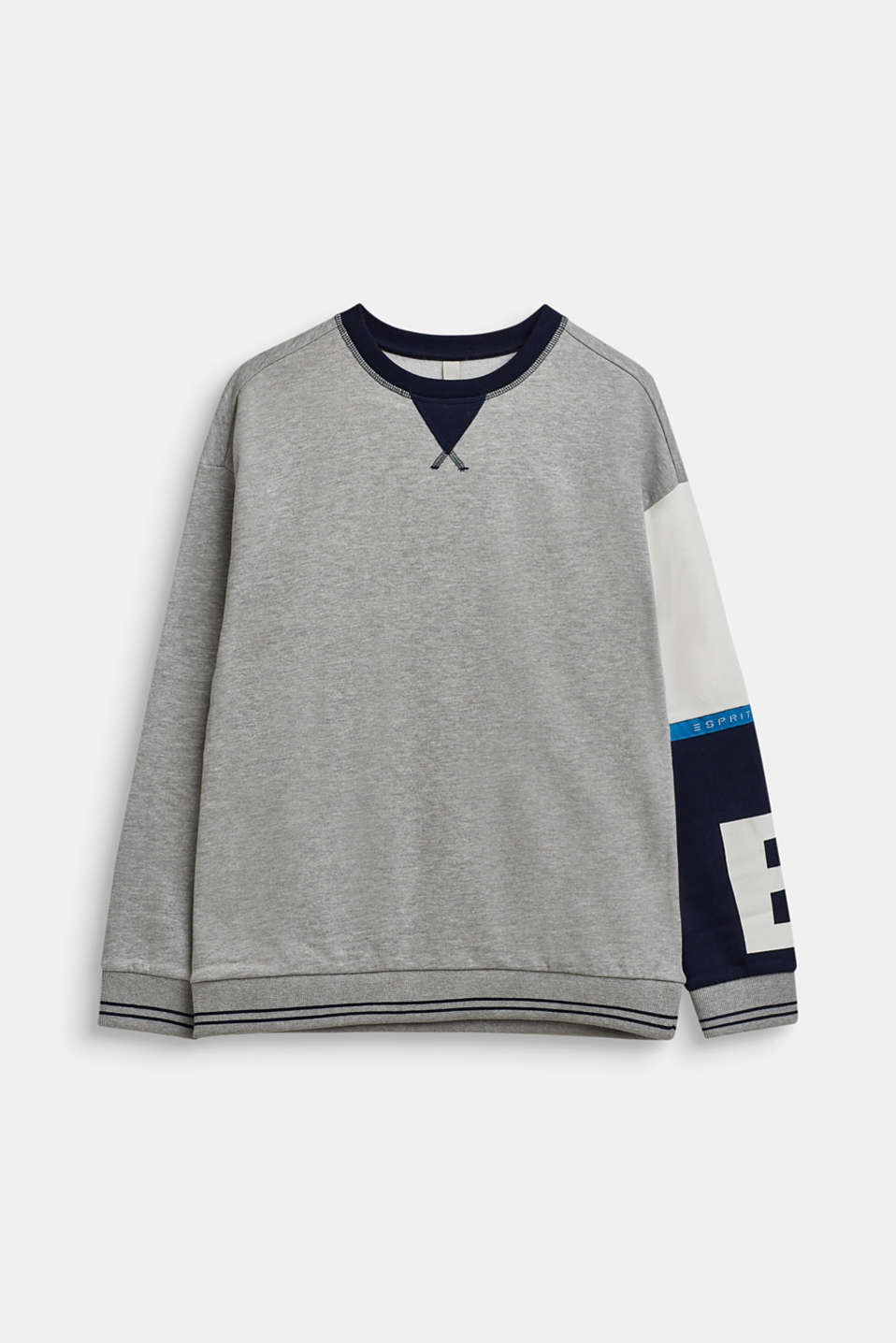 Esprit - Sweatshirt with contrast sleeves