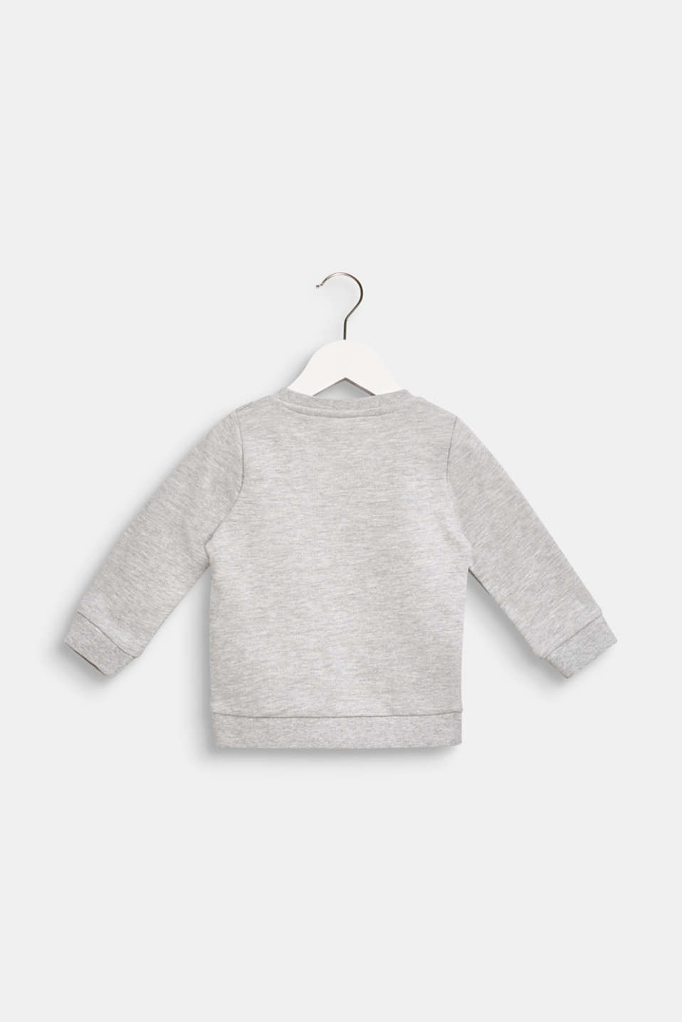 Sweatshirt with a polar bear print, LCHEATHER SILVER, detail image number 1