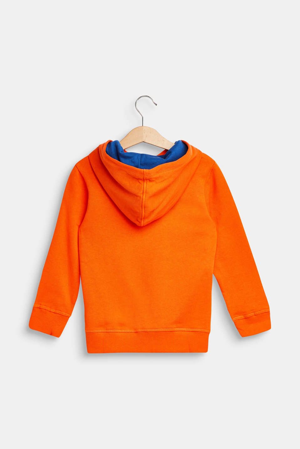 Hoodie with llama print, 100% cotton, BRIGHT ORANGE, detail image number 1