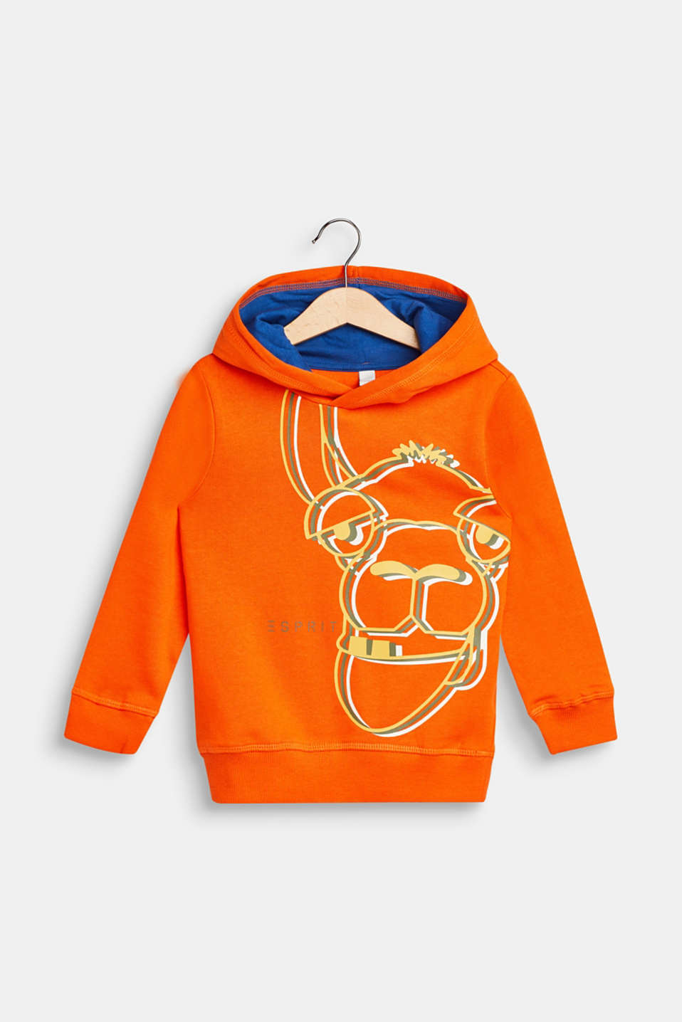 Esprit - Hoodie with llama print, 100% cotton