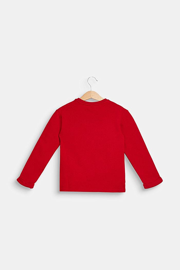 Sweatshirt with llama print, 100% cotton, TIBETAN RED, detail image number 1