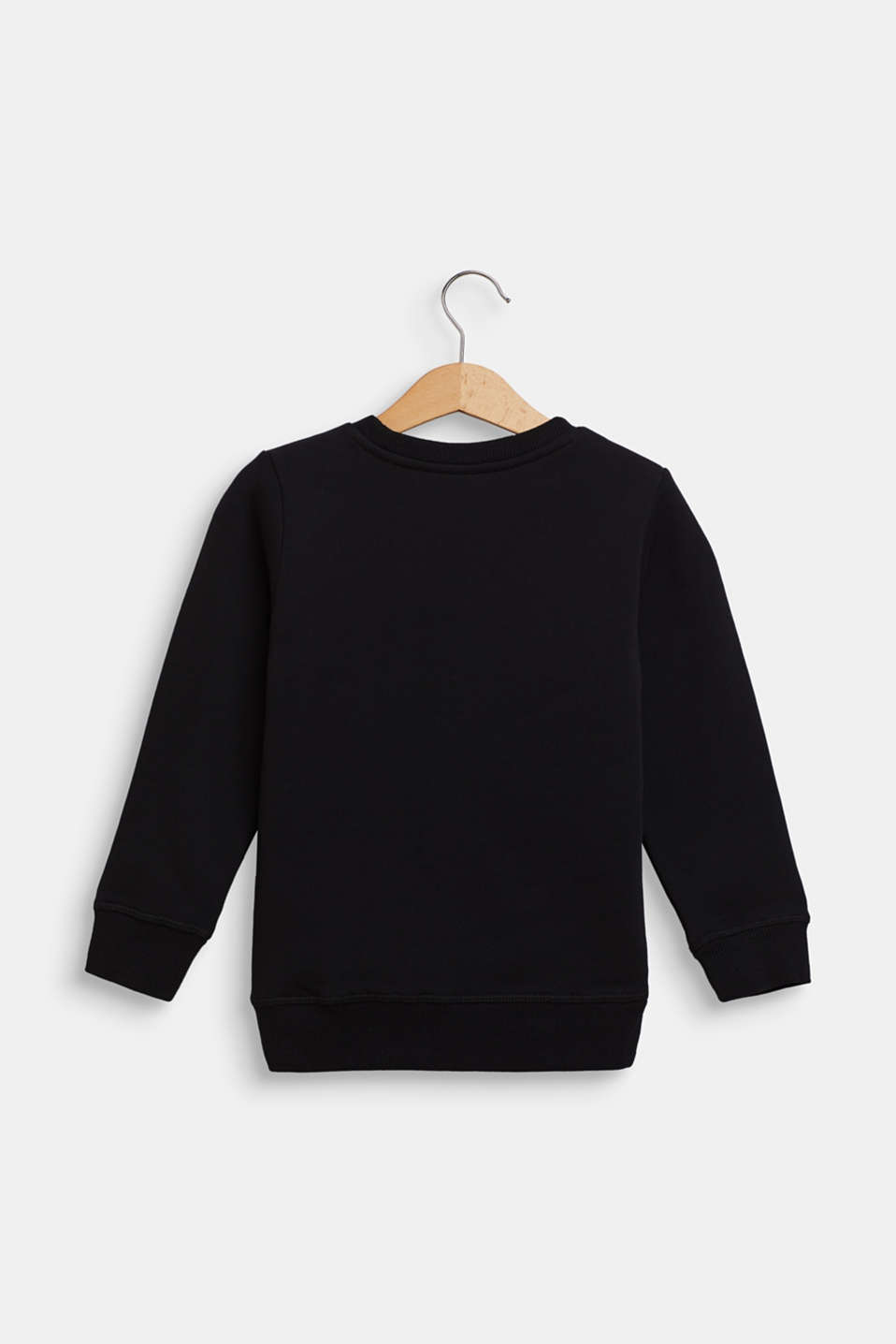 Statement sweatshirt made of 100% cotton, BLACK, detail image number 1