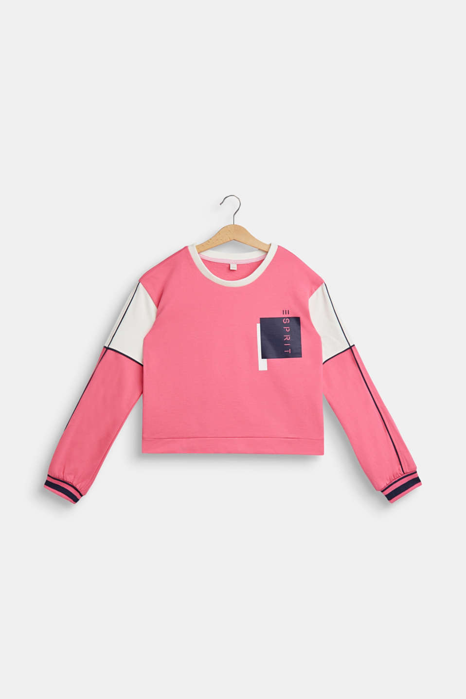 Esprit - Colour block sweatshirt, 100% cotton