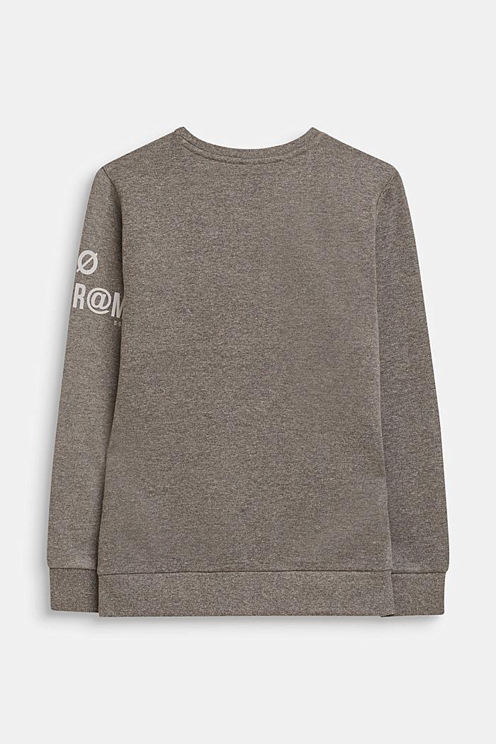 Sweatshirt met print en ritsdetail, LCDARK HEATHER G, detail image number 1