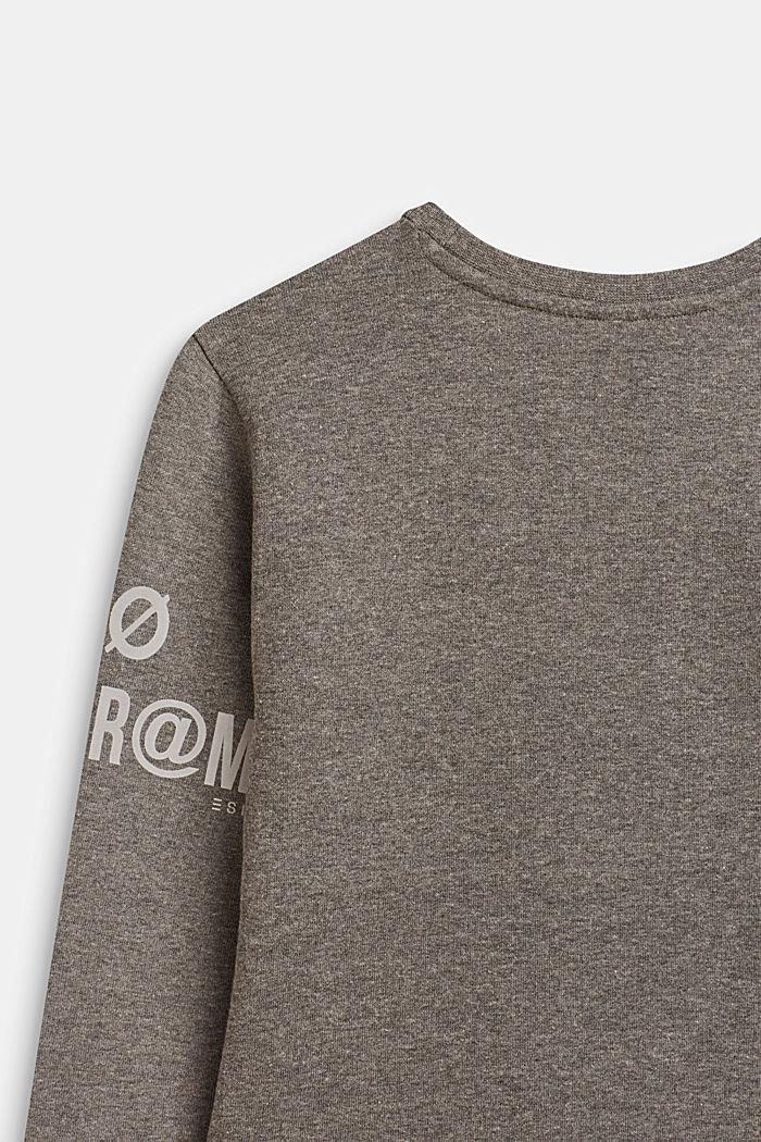 Sweatshirt met print en ritsdetail, LCDARK HEATHER G, detail image number 3