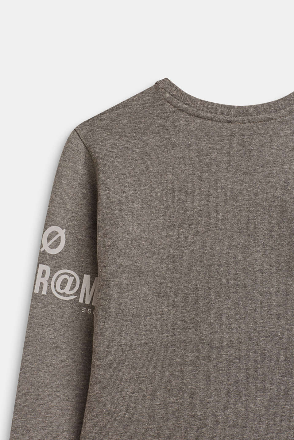 Sweatshirt with print and a zip detail, LCDARK HEATHER G, detail image number 3