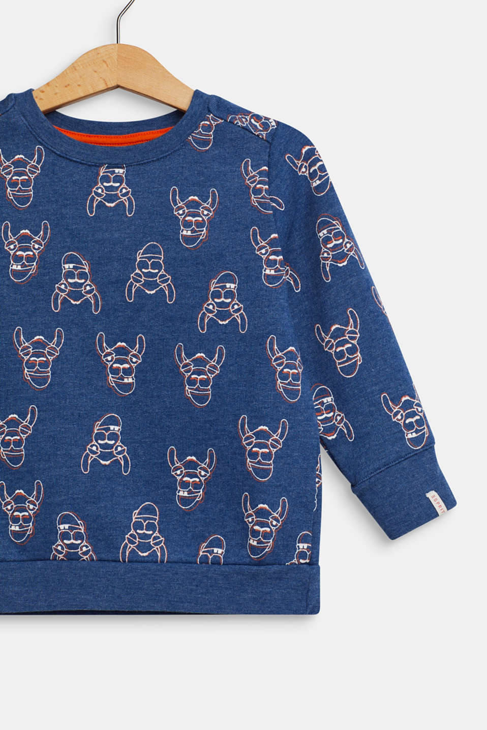 Sweatshirt with a llama print, indigo, detail image number 2