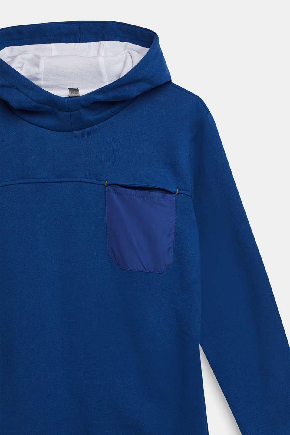 Hoodie with statement print, 100% cotton, LCINDIGO, detail image number 2