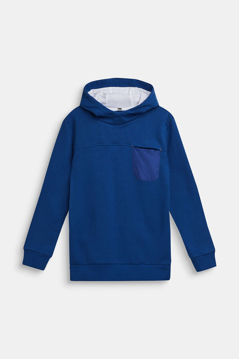 Esprit - Hoodie with statement print, 100% cotton