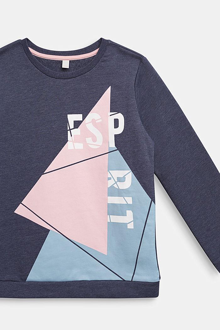 Sudadera con logotipo en mezcla de algodón, MIDNIGHT BLUE, detail image number 2