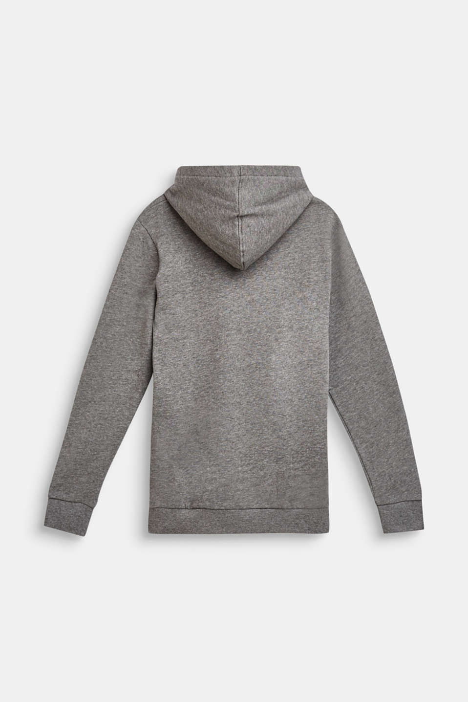 Cotton blend hoodie, LCDARK HEATHER G, detail image number 1