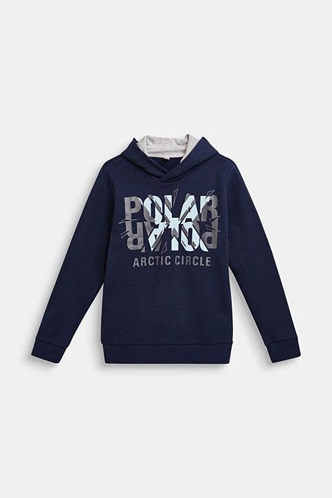 Cotton blend hoodie