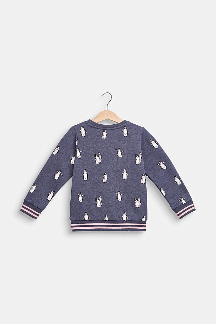 Sweatshirt met pinguïnprint, MIDNIGHT BLUE, detail image number 1