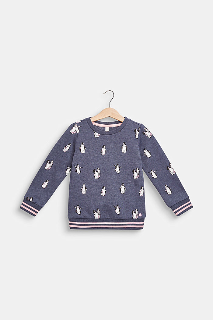 Sweatshirt met pinguïnprint, MIDNIGHT BLUE, detail image number 0