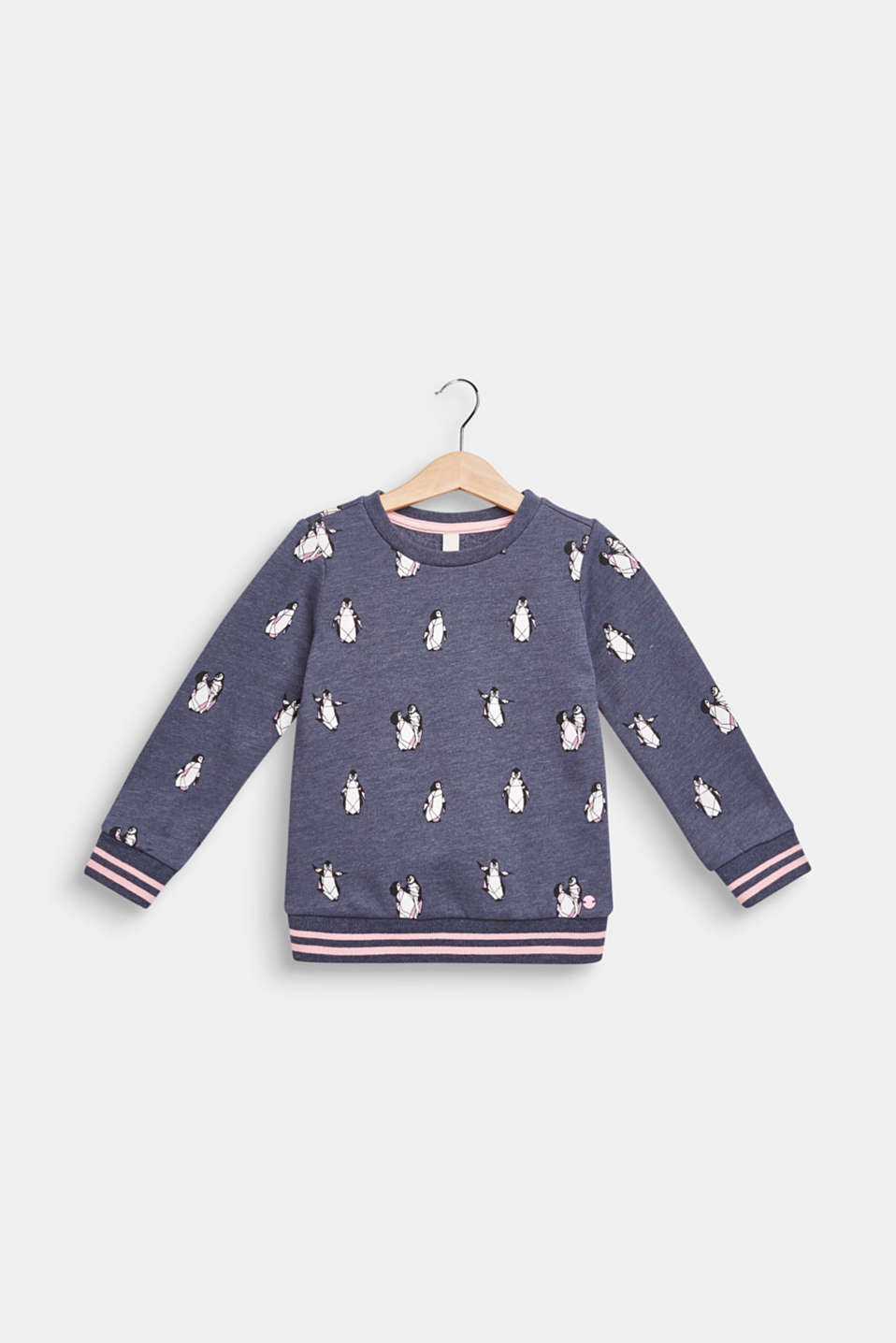 Sweatshirt with a penguin print, MIDNIGHT BLUE, detail image number 0