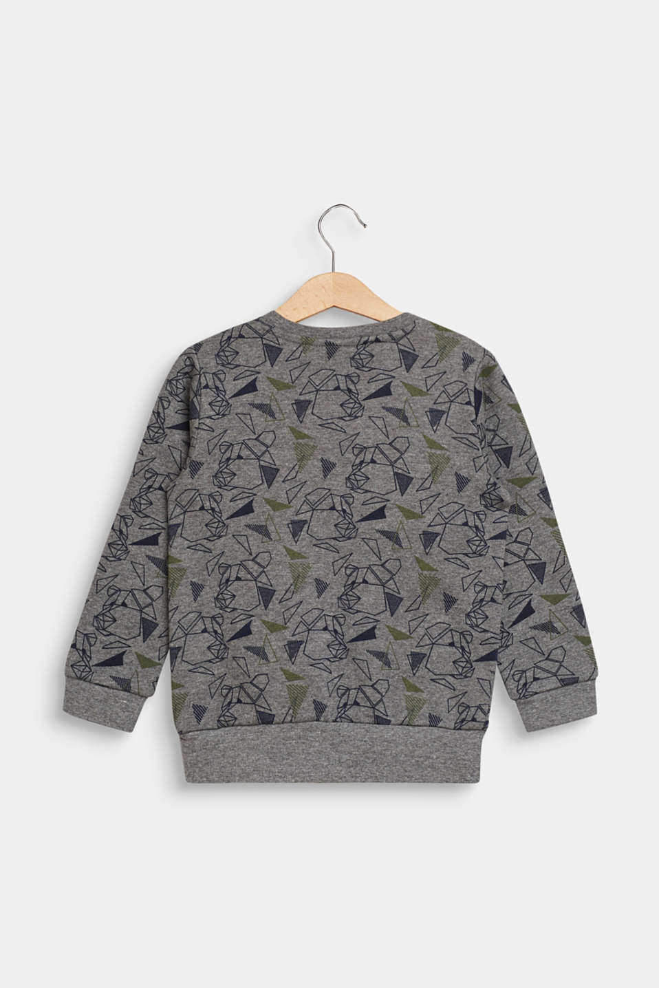 Sweatshirt with a cool graphic bear print, DARK HEATHER G, detail image number 1