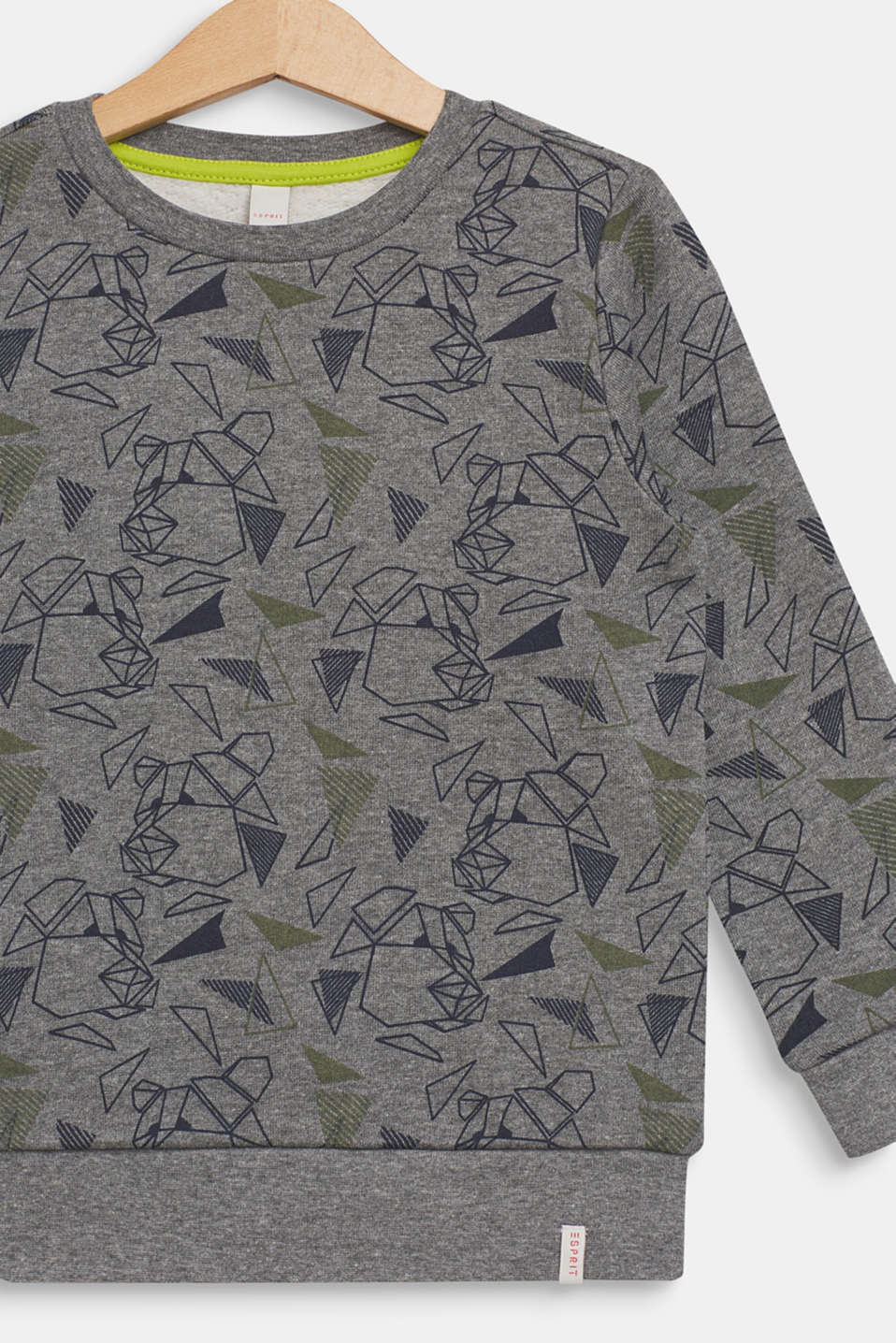 Sweatshirt with a cool graphic bear print, DARK HEATHER G, detail image number 2