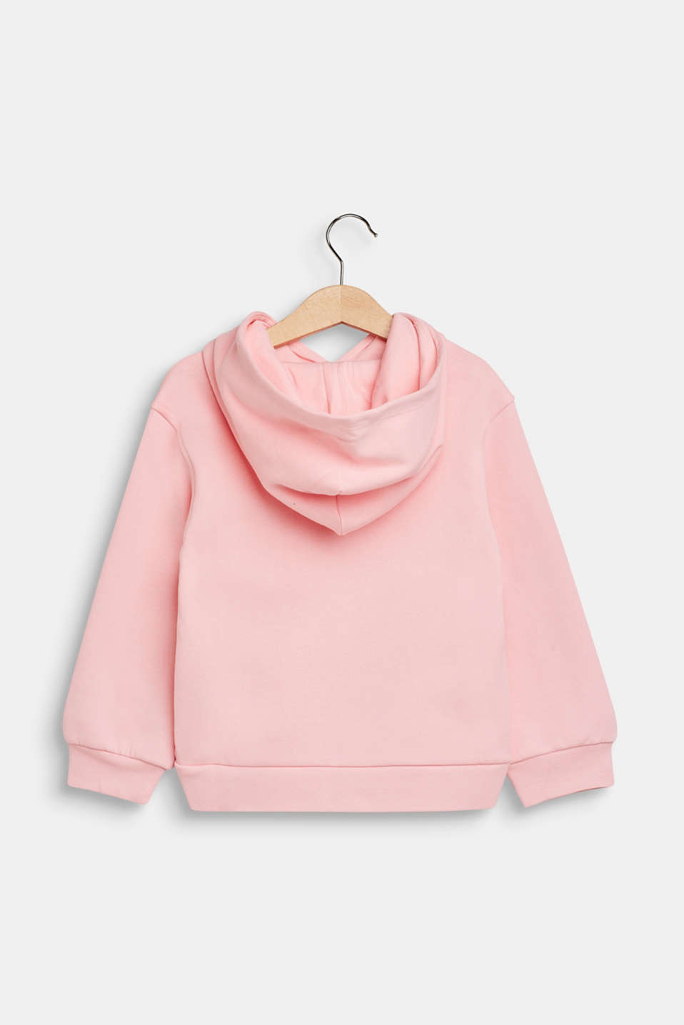 Hoodie with shiny print, 100% cotton, LIGHT PINK, detail image number 1