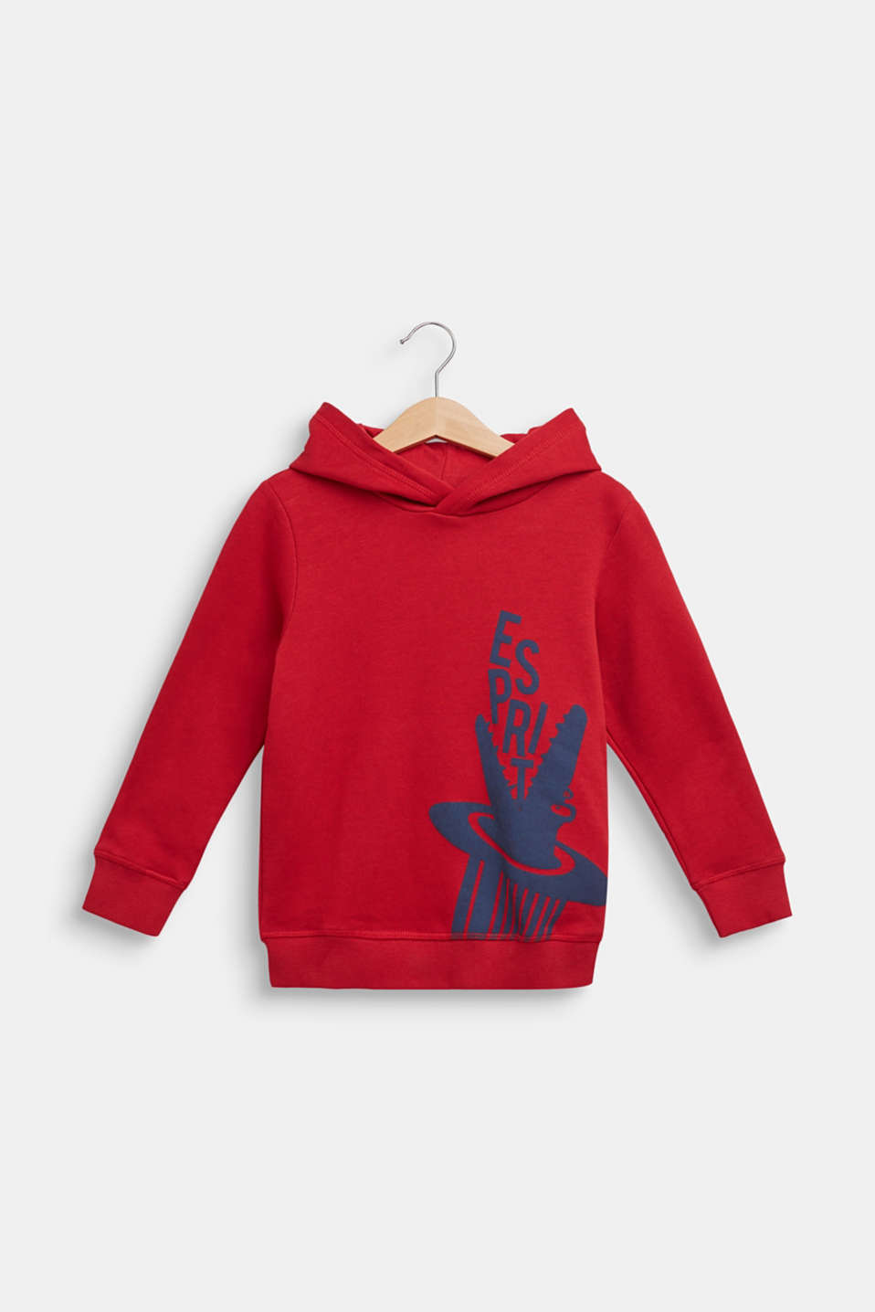 Esprit - Hoodie with logo print, 100% cotton
