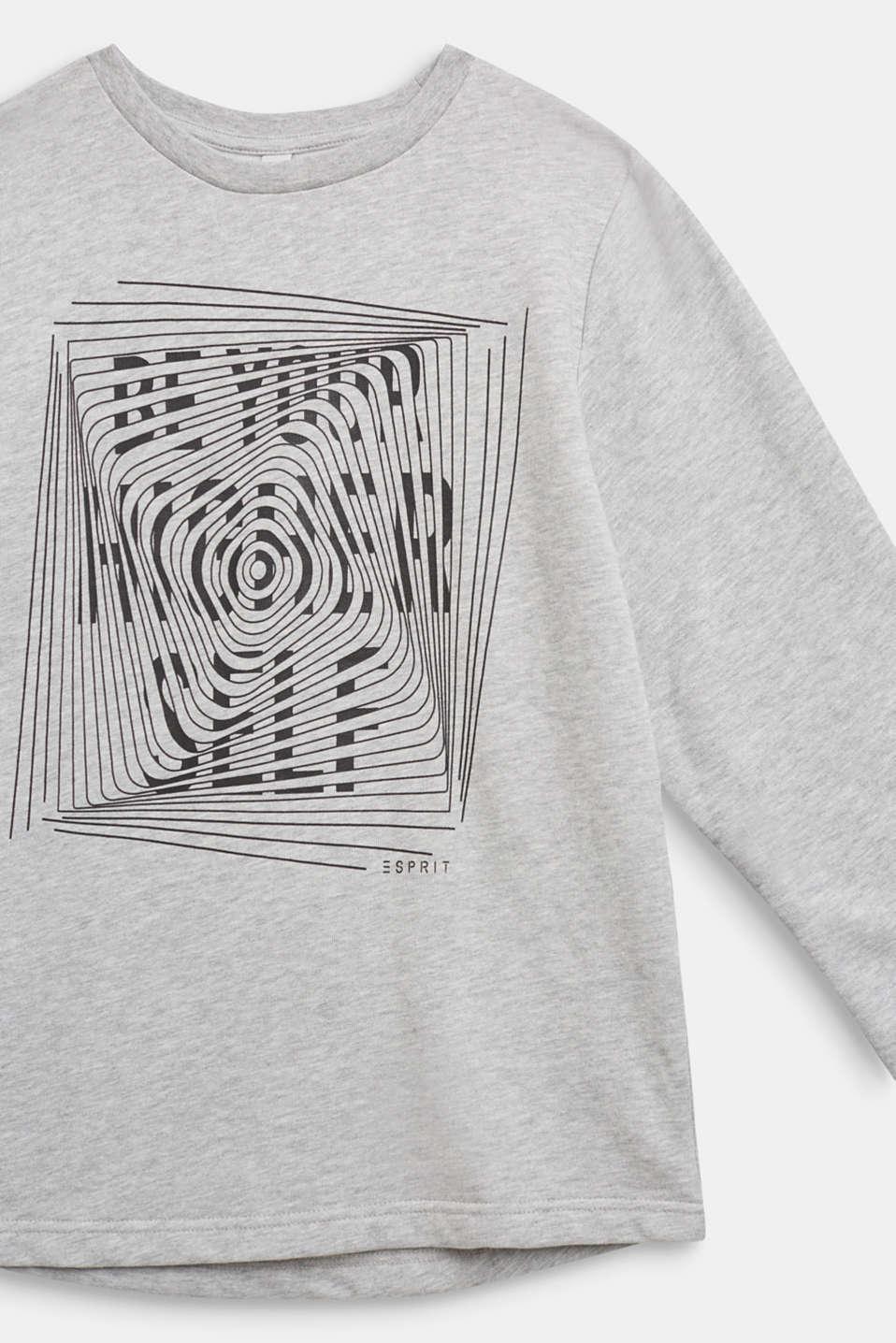 Statement print sweatshirt, LCHEATHER SILVER, detail image number 2