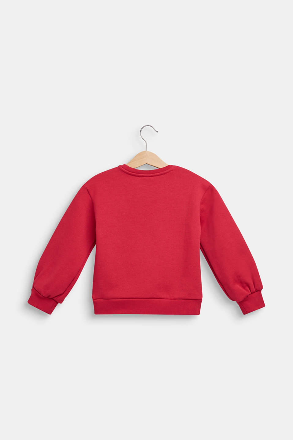 Sweatshirt in 100% cotton, CHOCKCHERRY, detail image number 1
